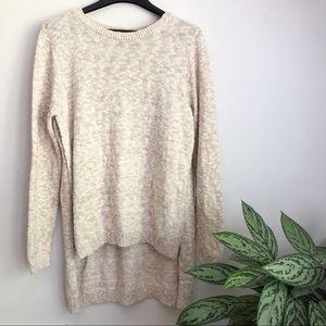 Express hi low side slit oversized cozy sweater